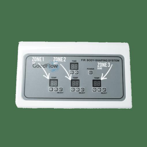 Displayet på Goodflows saunatæppe maskine